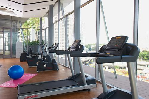 Fitness and gym with treadmills