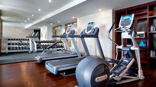 Fully equipped modern fitness and gym