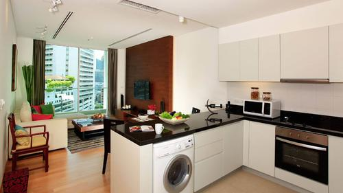 Fully equipped kitchen in each apartment