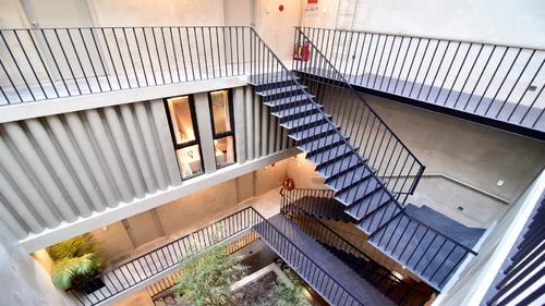 Urban staircase to each apartment