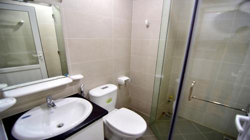 Bathroom with a modern shower