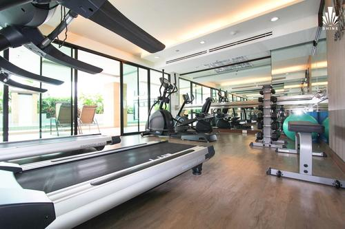 Well equipped gym with modern equipment