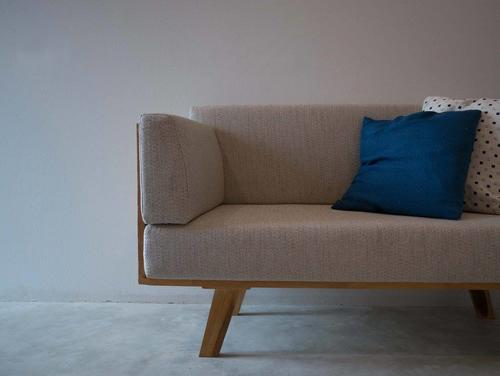 Minimalist european designer sofa with pillows