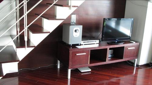 Tv with sound system and dvd player