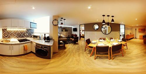 Panorama view of the whole Double with Studio apartment