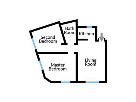 Floor plan of Apartment Five