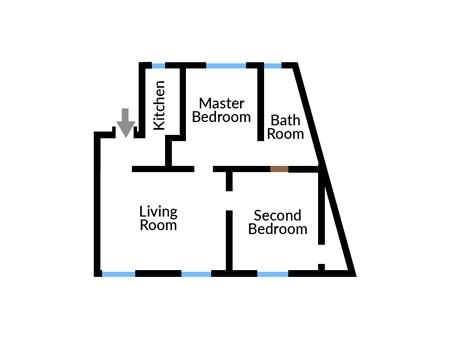 Floor plan of Manor House Lima Apartment Four