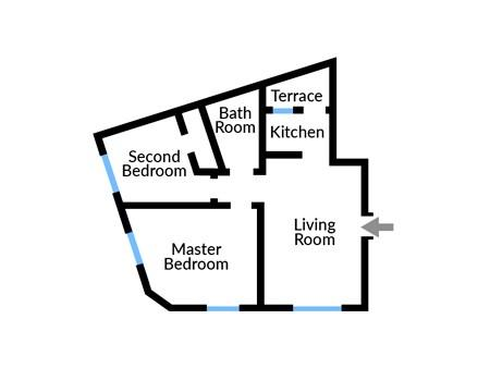 Floor plan of Apartment One
