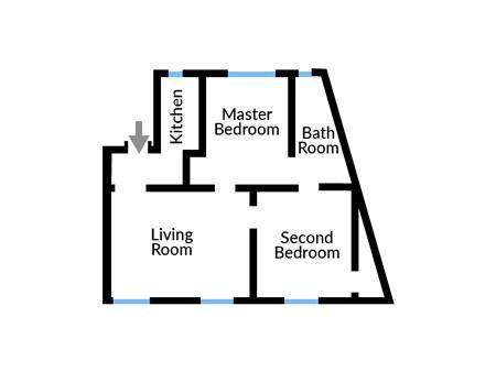 Floor plan of Apartment Six