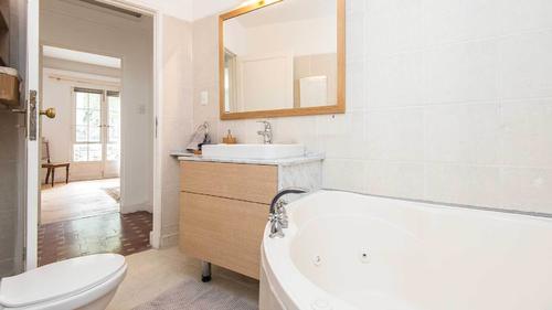 Stunning bathtub in the bathroom
