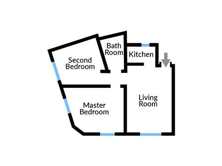 Floor plan for Manor House Lima Apartment Three