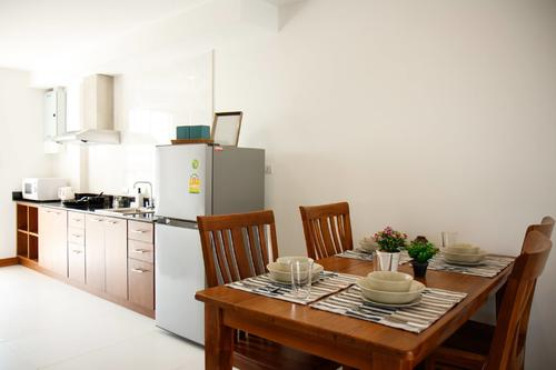 Kitchen with a dining table for four