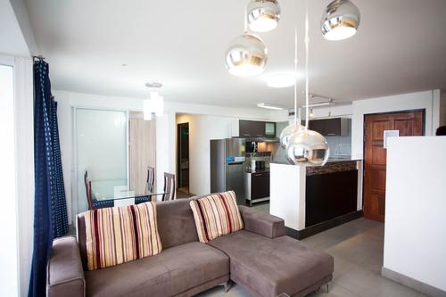 Tastefully equipped and furnished living area