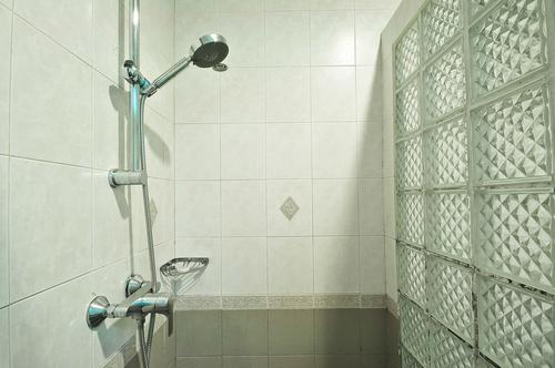 Modern shower with hot and cold water