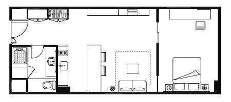 Floor plan for One Bedroom Executive