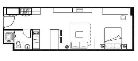 Floor plan for Studio Executive